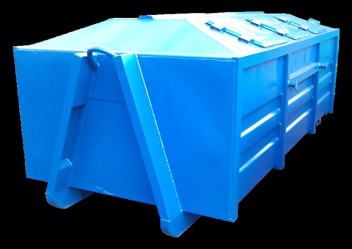 Nowość Kontener na odpady KP 7, 8, 10 ZAMKNIĘTE (B002) | Abrys Technika JY46