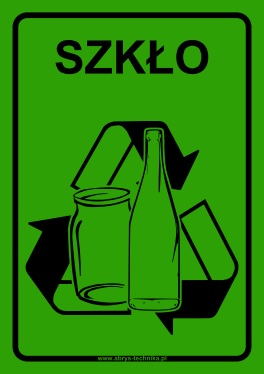 Naklejki na pojemniki do selektywnej zbiórki odpadów