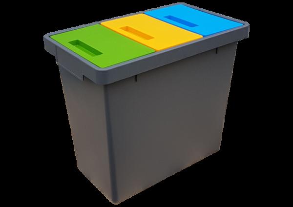 Pojemnik do segregacji odpadów TRIPLEX (S022)
