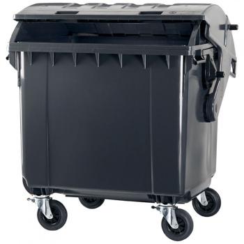 Pojemnik na odpady PE-1100 okrągła pokrywa (P010A)