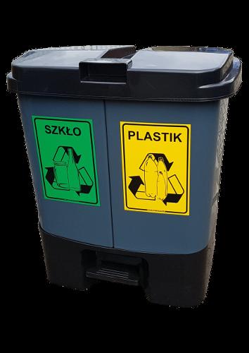 Pojemnik do segregacji odpadów DUO (S036)